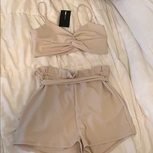 FashionNova tan set